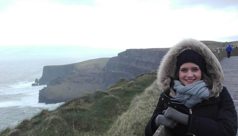 Natàlia Sotoca aprofita les oportunitats que té per visitar els paisatges que ofereix Irlanda.