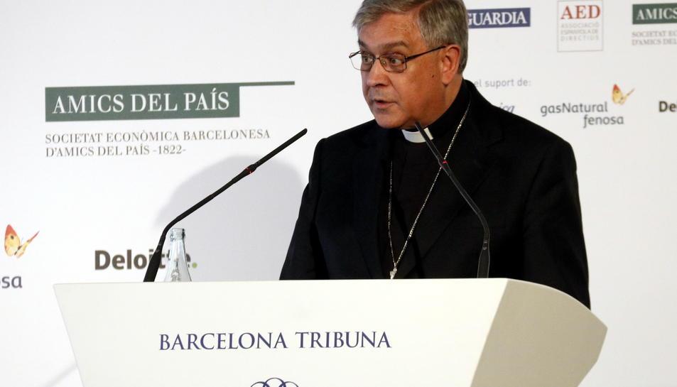 Imatge d'arxiu de l'abat de Montserrat, Josep Maria Soler.