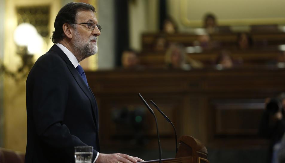 Imatge del president del govern espanyol, Mariano Rajoy al Congrés dels Diputats.