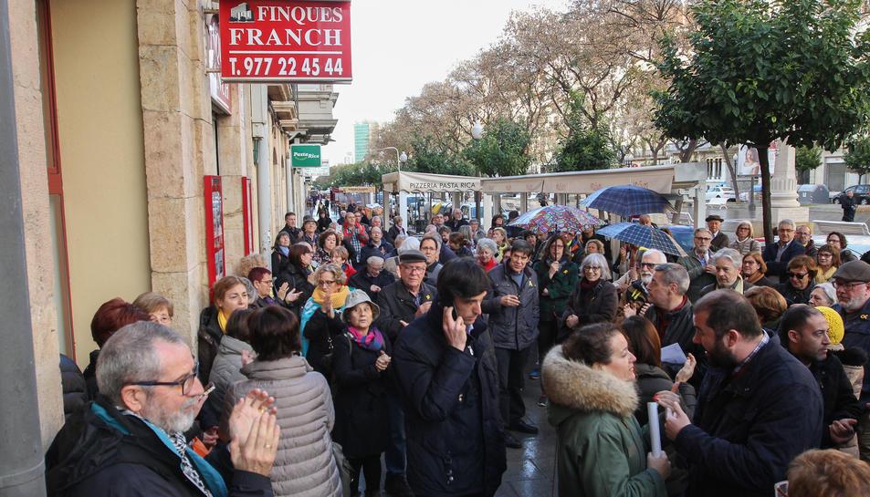 La concentració a Tarragona.