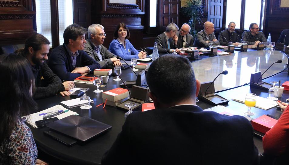 Imatge d'arxiu de la reunió de la Junta de Portaveus del passat 8 de març.