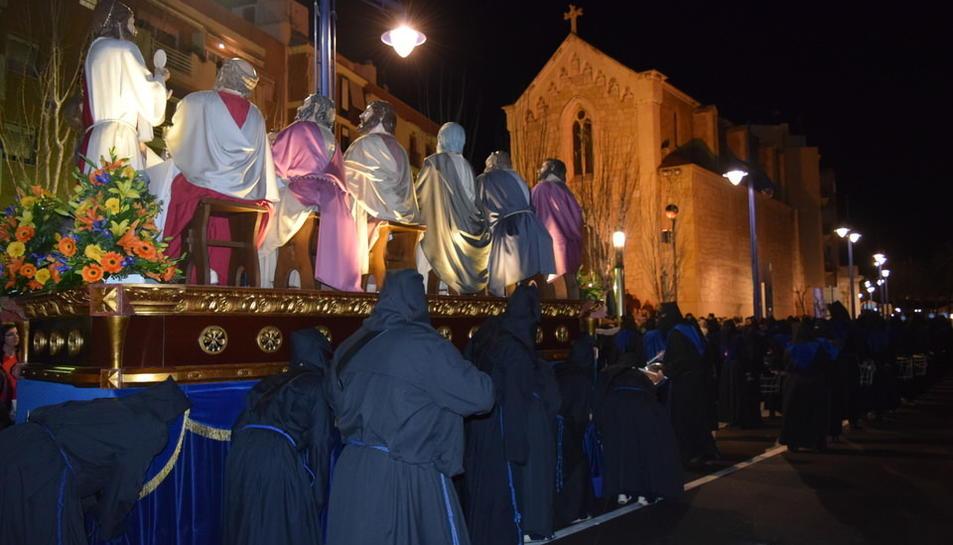 El pas del Sant Sopar ha tancat la processó del Serrallo