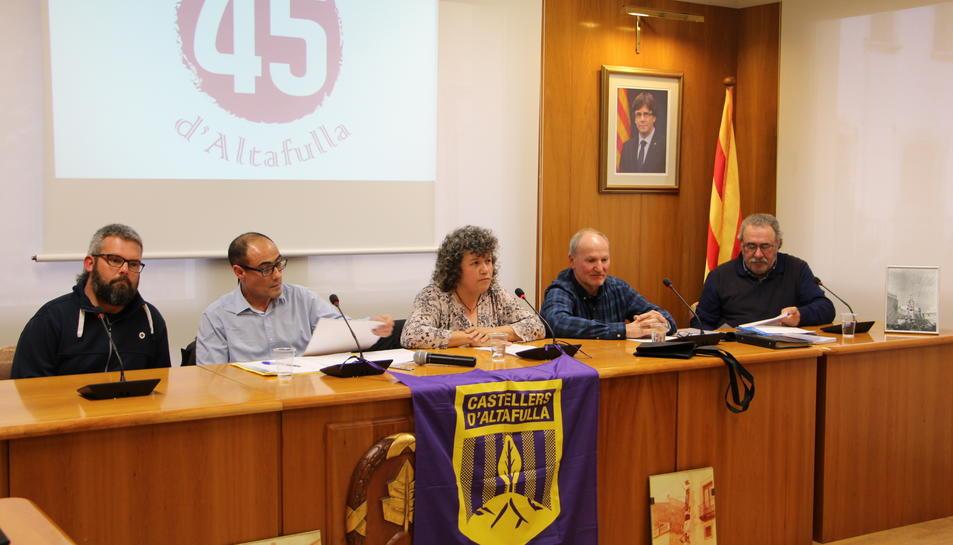 L'acte es va fer al Saló de Plens de l'Ajuntament.
