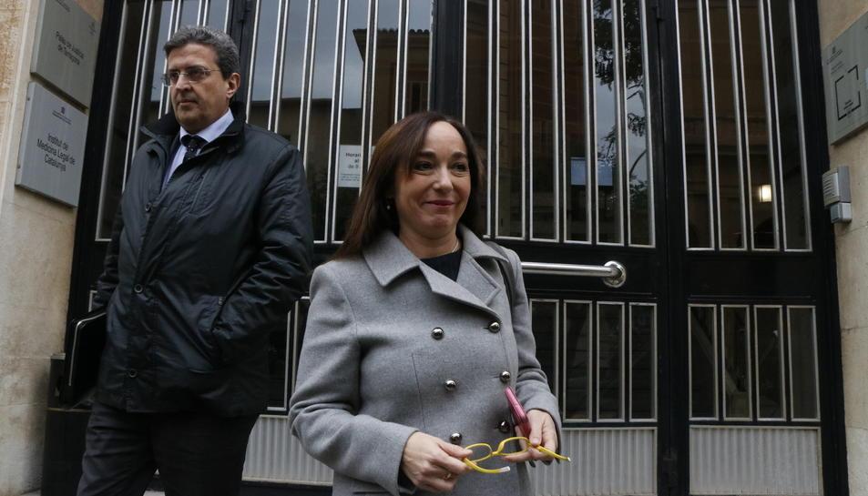 Begoña Floria, el 19 de gener del 2017 sortint del Jutjat després de declarar pel cas Inipro.