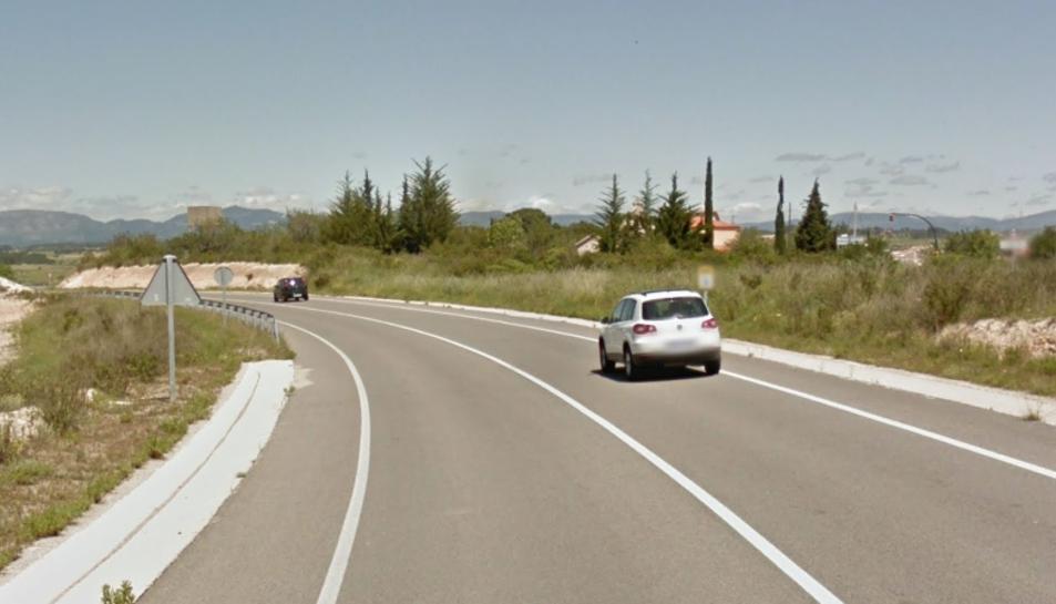 Imatge de la vía TP-2031 on ha tingut lloc l'accident.