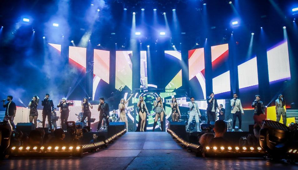 Imatge del concert de Madrid dels concursants d'OT.