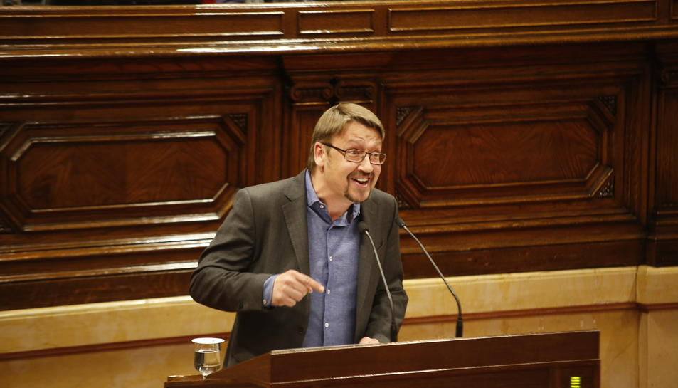 El portaveu d'En Comú Podem, Xavier Domènech, al debat d'investidura.