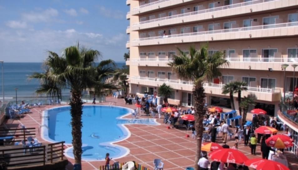 Un hotel de Salou, ple de turistes.