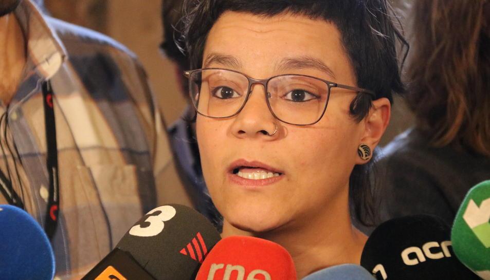 La diputada de la CUP Natàlia Sànchez.
