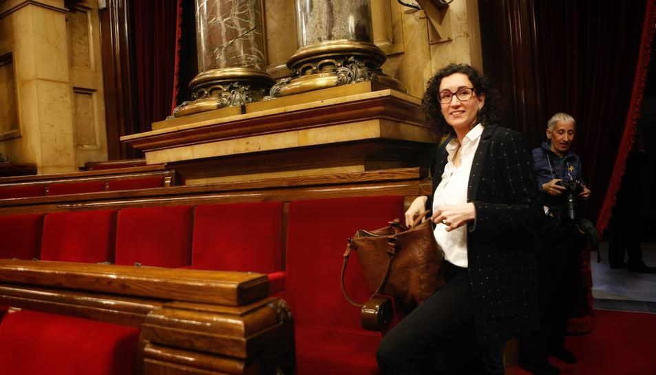 Marta Rovira al Parlament de Catalunya durant el debat d'investidura de Jordi Turull