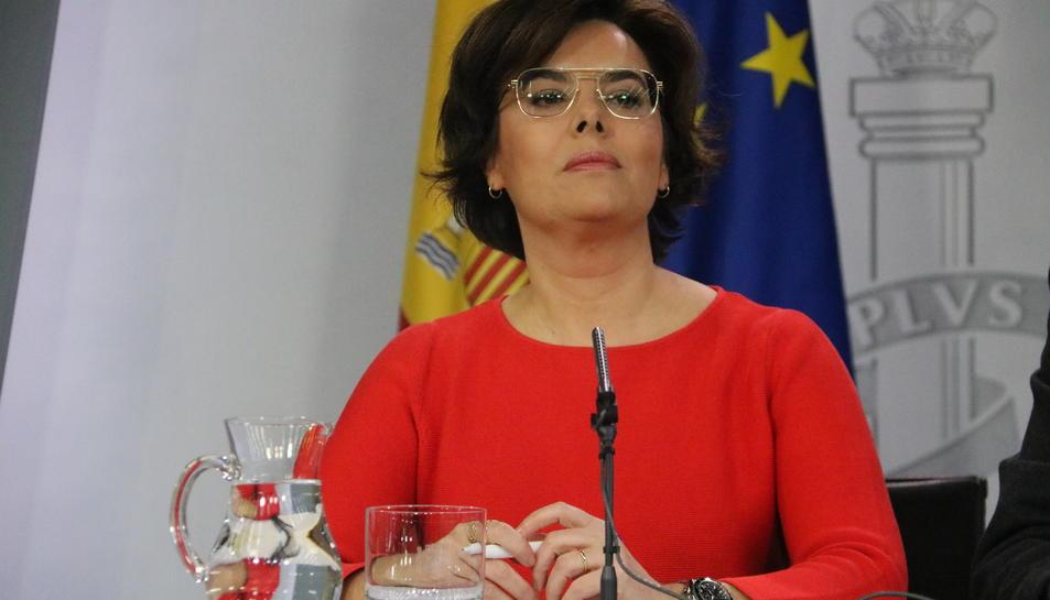 Imatge d'arxiu de la vicepresidenta del govern espanyol, Soraya Sánz de Santamaría.