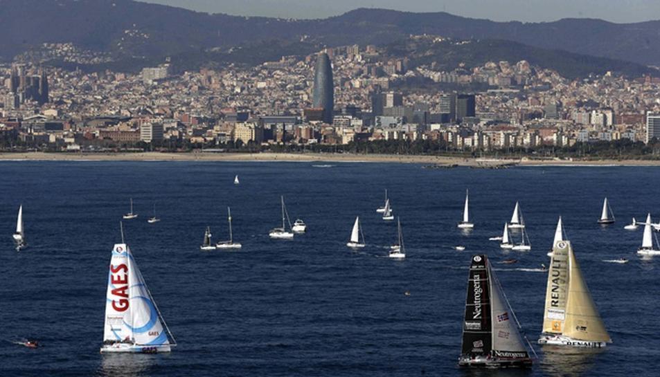 Imatge d'arxiu d'una anterior edició de la Barcelona World Race.