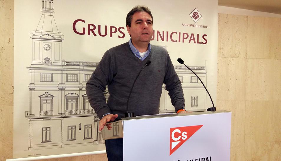 El portaveu de Ciutadans, Juan Carlos Sánchez,
