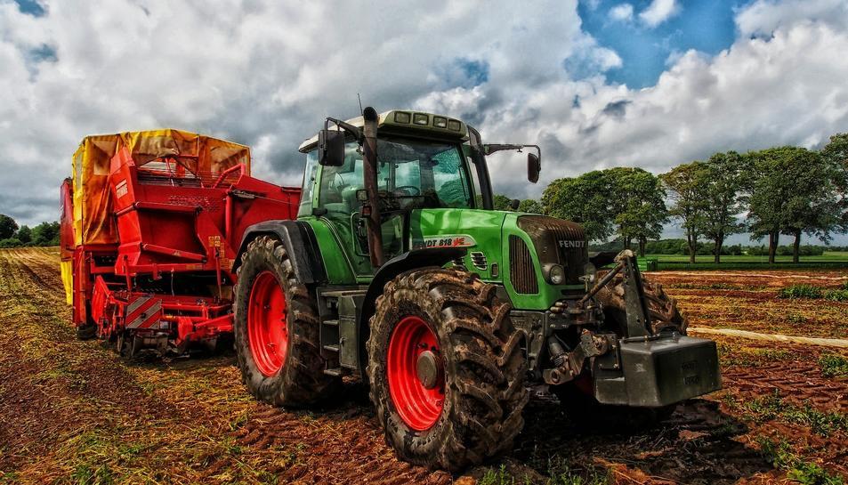 Imatge d'arxiu d'un tractor.