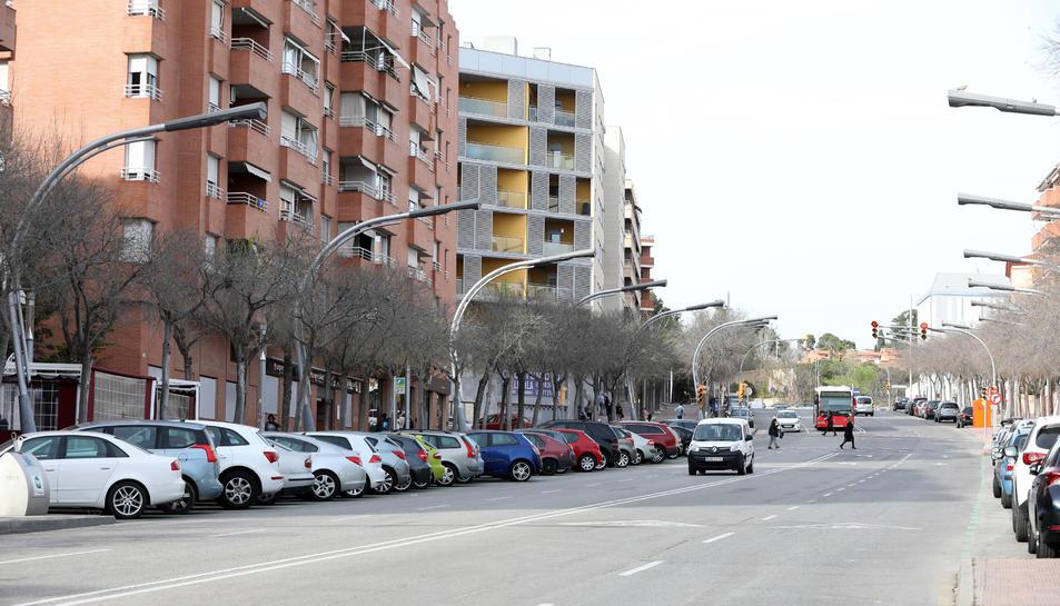 Imatge del carrer Marquès de Montoliu.