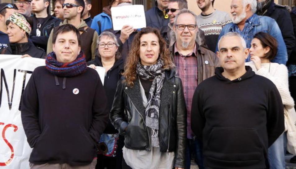 Santi Fortuny, Laia Estrada i Jordi Martí, tres dels investigats per la vaga general del 3-O a Tarragona.