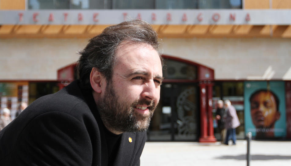 El músic solsonenc, aquest dimarts, a la Rambla Nova de Tarragona.