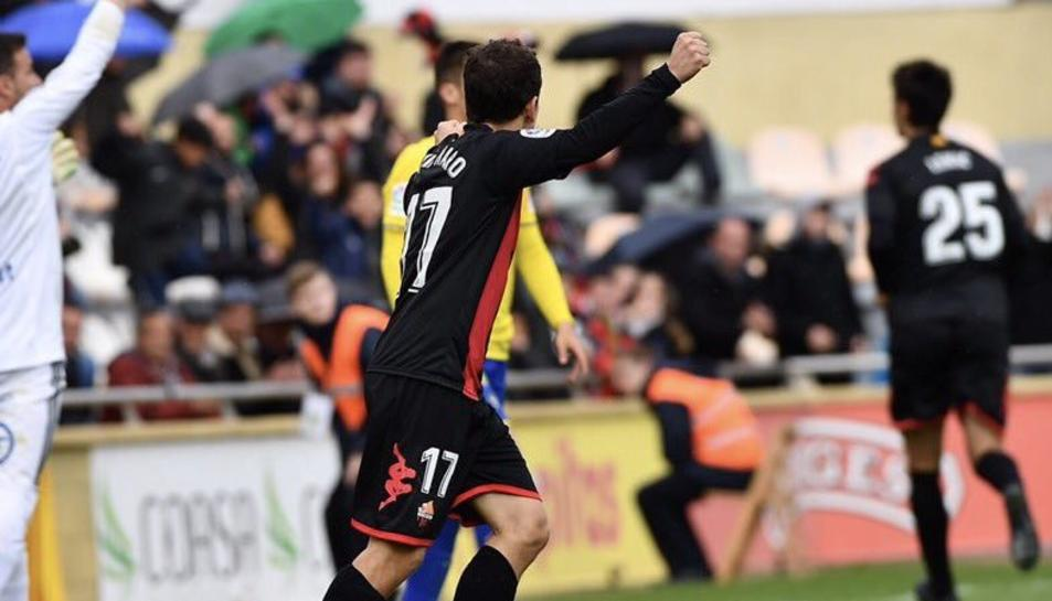 David Haro celebrant el gol de Lekic