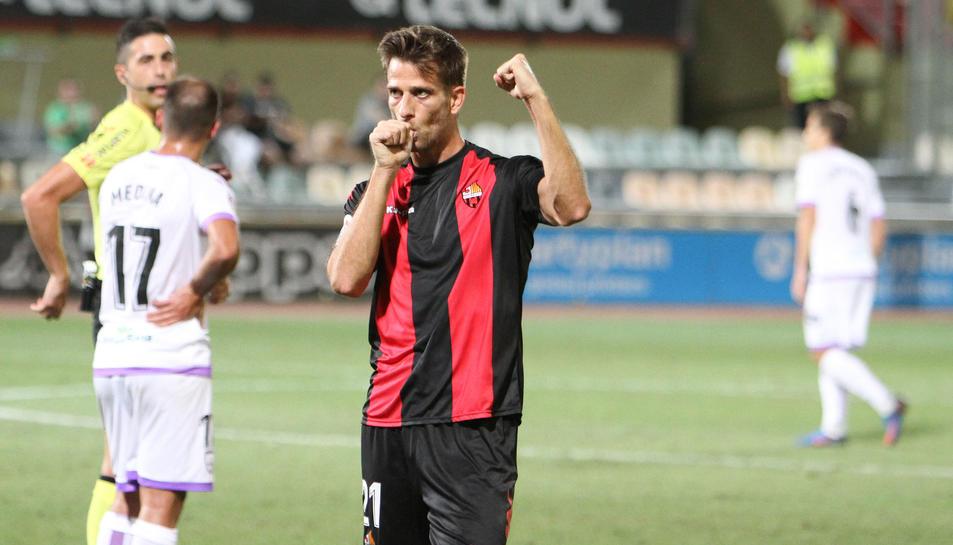 L'únic gol que suma Máyor aquest curs va arribar a la quarta jornada davant el Numancia.