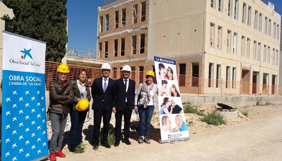El director territorial de Caixabank a Catalunya, Jaume Masana, va visitar les obres del nou centre La Muntanyeta Bonavista.
