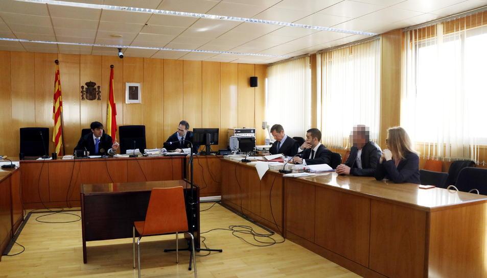Sala de vistes de l'Audiència de Tarragona on s'ha realitzat el judici per l'assassinat d'una dona a Valls,