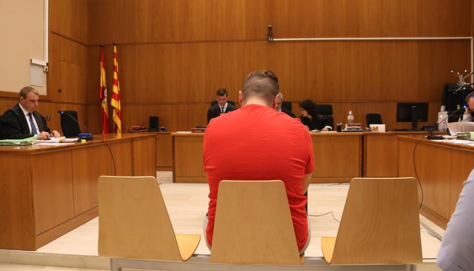 Imatge de l'acusat durant el judici.