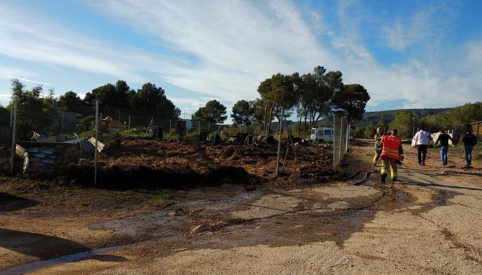 Una mare i el seu fill van perdre el dimarts la seva casa en un incendi.