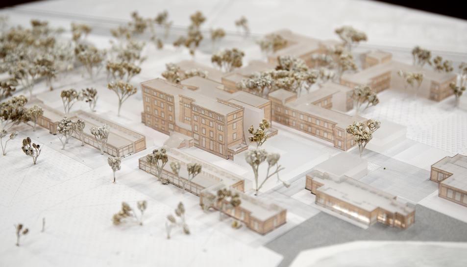 Maqueta del projecte realitzat per l'equip d'arquitectes Fustes, Viader, Mansilla i Perea.