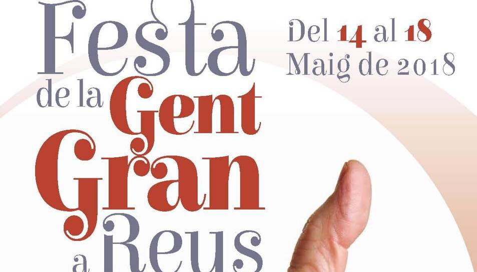 Cartell de la Festa de la Gent Gran de Reus.