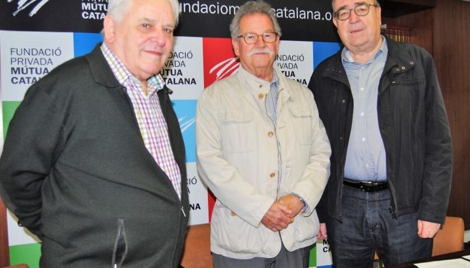 El president de la Cooperativa Obrera Tarraconense, Dionisio de la Varga, Ramon Marrugat, patró de la Fundació, i el president de la FPMC