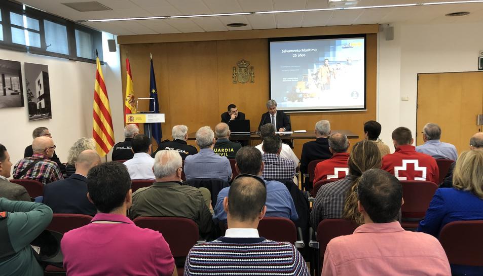 Landeta també ha repassat la història del salvament al mar, els convenis vigents i algunes de les principals actuacions a nivell internacional.