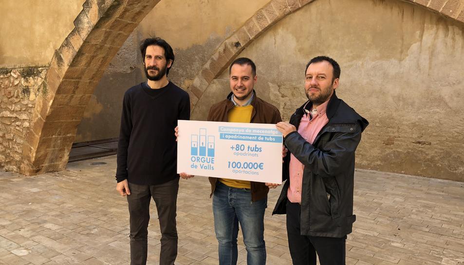 La campanya per recuperar l'orgue de Valls compta amb 80 tubs apadrinats.