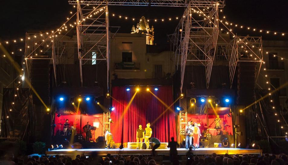 Imatge d'un espectacle del Trapezi d'una edició anterior.