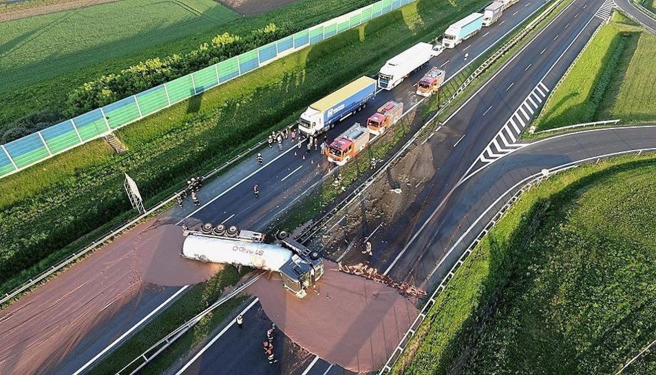 Imatge aèria de l'accident.