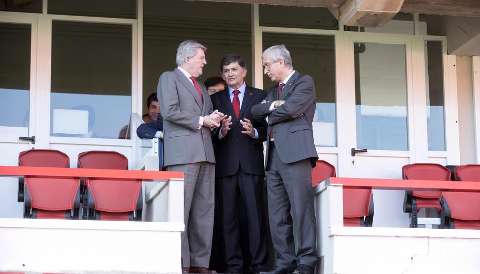 El ministre Méndez de Vigo, el president del Nàstic, Josep Maria