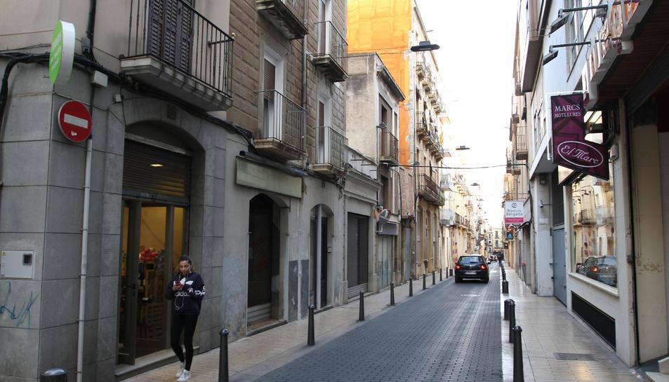 El carrer dels Recs és un dels que compta amb pisos per a turistes inscrits a Turisme.