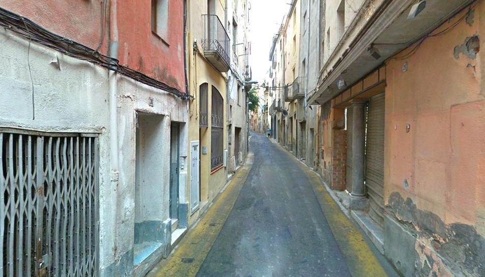 Imatge del carrer d'en Bosc, on el detingut traficava amb drogues.
