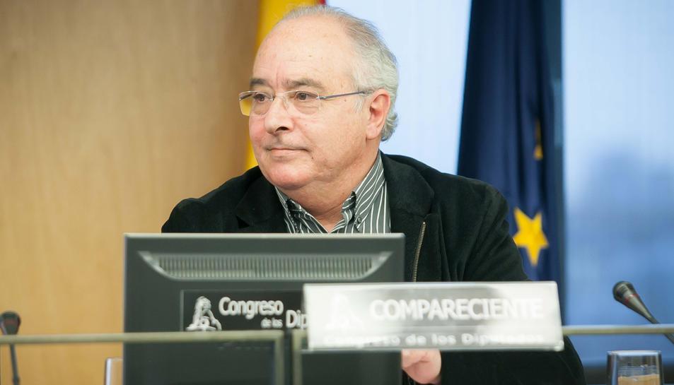 Josep Bargalló durant una compareixença al Congrés dels Diputats.