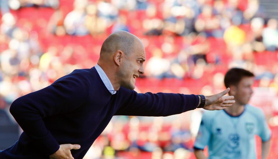 Nano Rivas en un partit al Nou Estadi