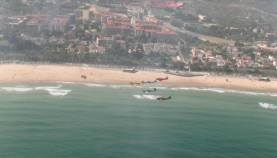 Les imatges de l'assaig dels pilots aeris