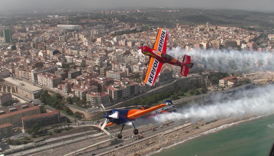 Els pilots fent proves el divendres