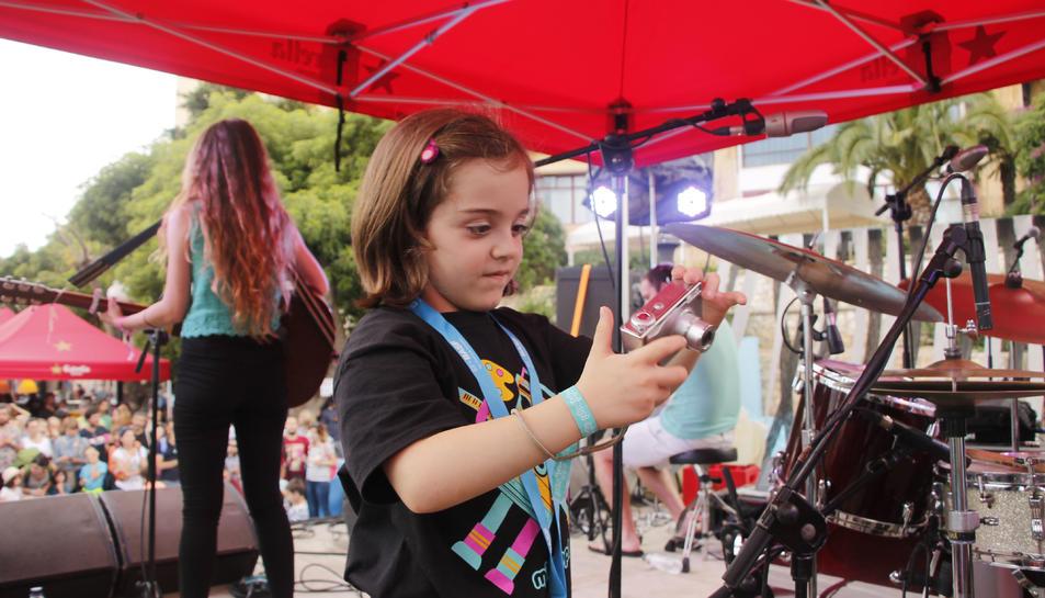 Nens en una edició passada del festival.