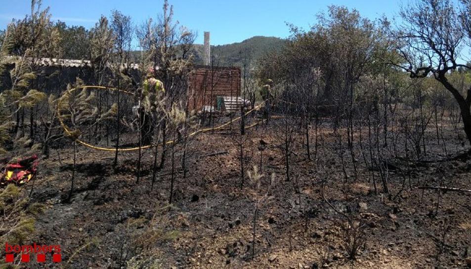 La zona quemada es troba darrere delCàmping el Templo del Sol.