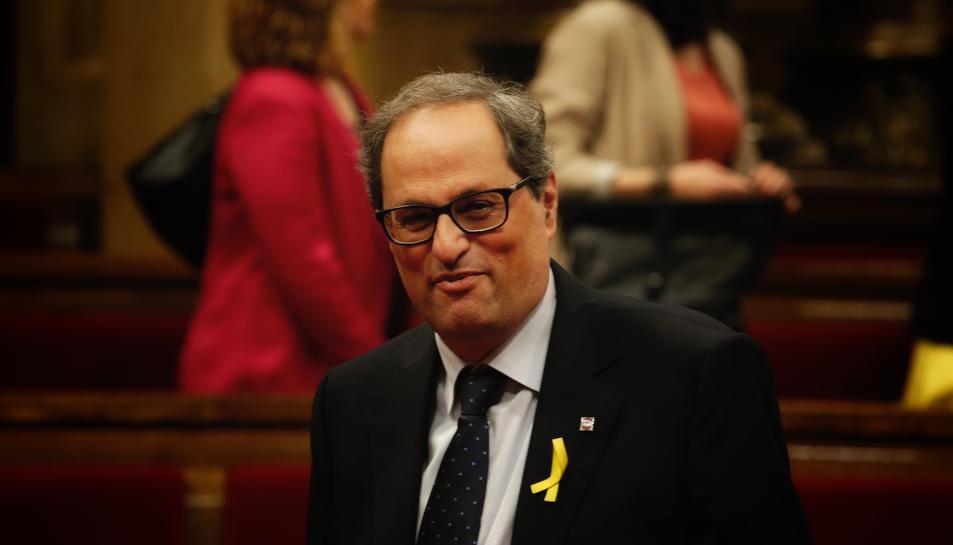 El president de la Generalitat, Quim Torra, vol restituir tots els consellers de l'anterior govern.