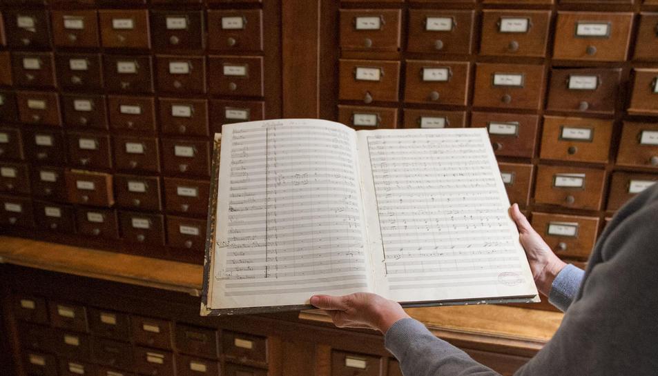 El document l'ha localitzat l'equip tècnic de la biblioteca entre el fons pendent de ser inventariat.