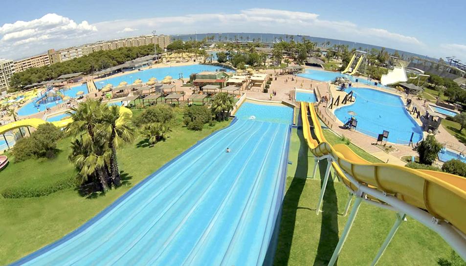 Imatge del parc aquàtic de la Pineda.