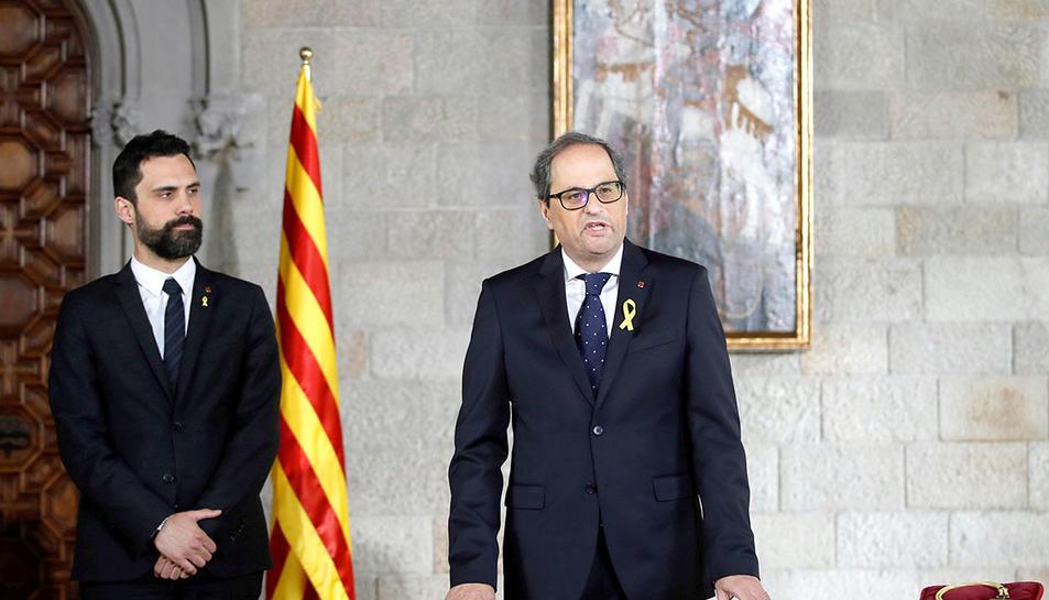Presa de posessió de Quim torra com a president de la Generalitat.