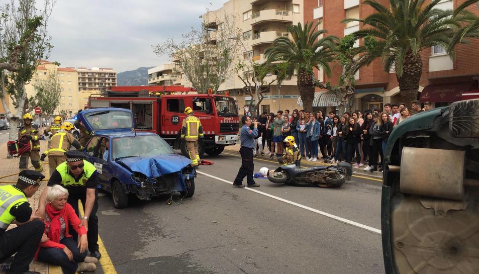 El simulacre s'ha fet a un dels trams de la Via Aigusta del municipi.
