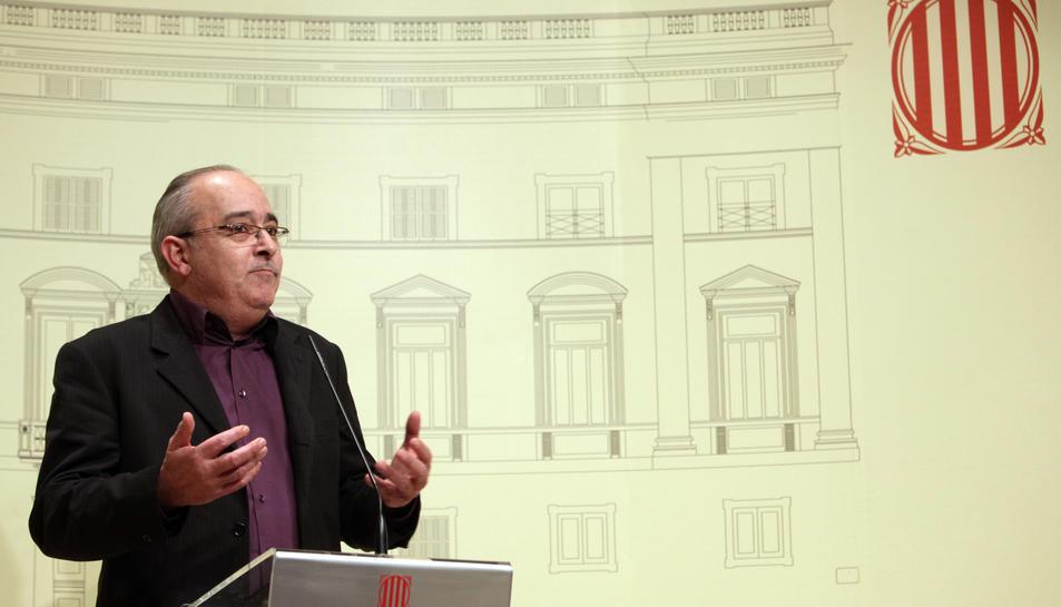 Josep Bargalló, ERC, a la roda de premsa posterior a la cimera en defensa de la immersió lingüística.