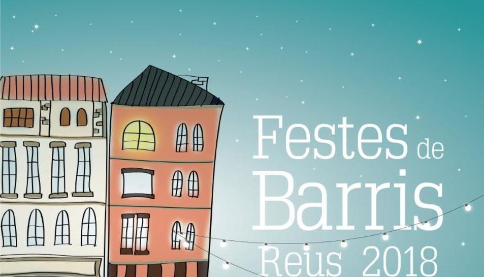 Imatge del cartell de les Festes de Barris de Reus 2018.